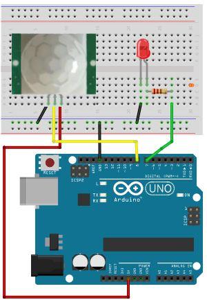 Bewegungsmelder - arduino-basics.com